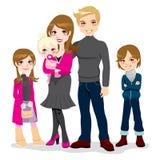 piękny rodzinny szczęśliwy Fotografia Royalty Free