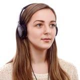 Piękny słuchacz Zdjęcie Stock