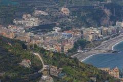 Piękny sceniczny Amalfi Italy nabrzeżny południowy znacząco traveli Fotografia Stock