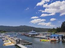 Piękny schronienie w Dużym Niedźwiadkowym jeziorze Zdjęcia Royalty Free
