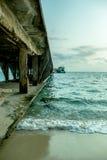 Piękny seascape pod światło słoneczne czasem Zdjęcie Royalty Free