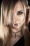 Piękny seksowny wampir Obraz Stock