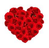 Piękny serce robić czerwone róże Obraz Royalty Free