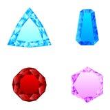 Piękny set wiele diamenty royalty ilustracja