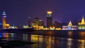 Piękny Shanghai bund przy nocą, Chiny Zdjęcie Royalty Free