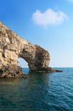 Piękny skalisty denny wybrzeże obrazy stock