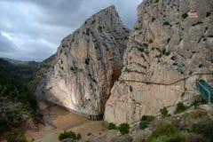 Piękny skalisty region wokoło el Chorro w Andalusia fotografia stock