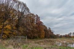 Piękny spadku dukt w Zachodnim Lafayette, Indiana zdjęcia stock