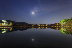 Piękny spadku krajobraz wokoło Kyoto Obrazy Royalty Free