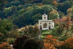Piękny spadku widok Amerykański ambasady Glorietta Schoenborn pałac w Mala Strana okręgu Praga zdjęcie royalty free