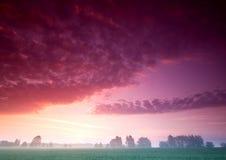 piękny spokojny wschód słońca obrazy royalty free