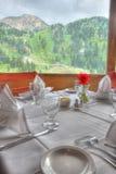 piękny stół przelecieć restauracji fotografia stock