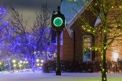 Piękny starego stylu zieleni zegar Obraz Royalty Free