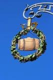 Piękny stary austeria znak, pokazuje piwną baryłkę Zdjęcia Stock