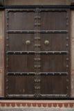 Piękny stary drewniany drzwi zdjęcia stock
