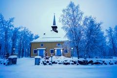 Piękny stary kościół w zimie fotografia royalty free