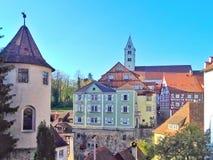 Piękny stary miasteczko Meersburg Zdjęcie Royalty Free