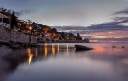 Piękny stary miasteczko Nessebar, lato wschód słońca Zdjęcie Royalty Free