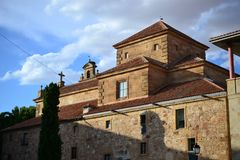 Piękny stary miasto Salamanca, Hiszpania, katedra, placu Mayor i Universidad uniwersytet, Hiszpańska architektura obrazy stock