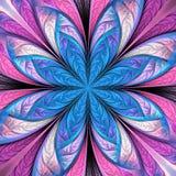 Piękny stubarwny fractal kwiat Kolekcja - mroźny wzór Ty możesz używać mnie dla zaproszeń, notatnik pokrywy, telefon skrzynka, ilustracji