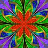 Piękny stubarwny fractal kwiat Kolekcja - mroźny wzór Ty możesz używać mnie dla zaproszeń, notatnik pokrywy, telefon skrzynka, royalty ilustracja