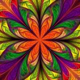 Piękny stubarwny fractal kwiat Kolekcja - mroźny wzór Ty możesz używać mnie dla zaproszeń, notatnik pokrywy, telefon skrzynka, ilustracja wektor