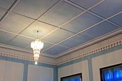 Piękny sufit w Błękitnej sala w Chernivtsi uniwersytecie Zdjęcia Stock