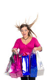 piękny sukni menchii kobieta w ciąży Obraz Royalty Free