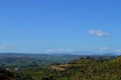 Piękny sycylijczyka krajobraz, Mazzarino, Caltanissetta, Włochy, Europa Fotografia Stock