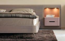 piękny sypialni projekta wnętrze nowożytny Zdjęcie Royalty Free