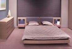 piękny sypialni projekta wnętrze nowożytny Fotografia Stock