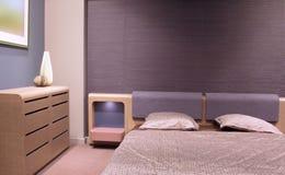 piękny sypialni projekta wnętrze nowożytny Fotografia Royalty Free