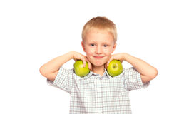 Dziecko je zdrowego jedzenie Zdjęcie Royalty Free