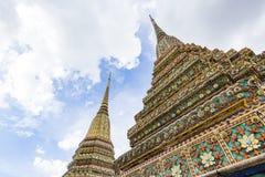 Piękny szczegół pagoda przy Wata Pho świątynią Zdjęcia Royalty Free