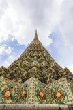 Piękny szczegół pagoda przy Wata Pho świątynią Obrazy Royalty Free