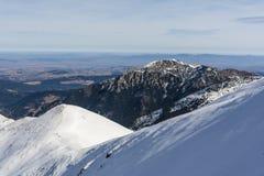 Piękny szczyt w Polskiej części Zachodni Tatrzański Mountai Obrazy Stock