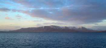 Piękny szeroki kąta widok góra Obrazy Stock