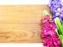 Piękny sztucznego kwiatu bukieta kopii przestrzeni granicy tło Zdjęcie Royalty Free