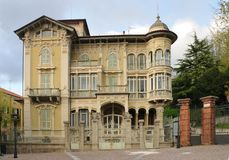 Piękny sztuki nouveau pałac obraz royalty free