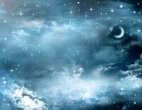 Piękny tło, śródnocny niebo Obrazy Stock