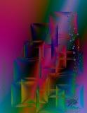Piękny tło z kolorowymi kwadratami Zdjęcia Royalty Free