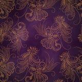 Piękny tło z kwiatu wzorem Obraz Royalty Free