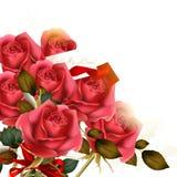 Piękny tło z luksusowym bukietem róże Obrazy Royalty Free