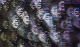 Piękny tło z różnym barwionym symbolu euro, abstrac Obraz Stock