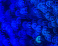 Piękny tło z różnym barwionym symbolu euro, abstrac Obraz Royalty Free