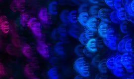 Piękny tło z różnym barwionym symbolu euro, abstrac Zdjęcia Stock