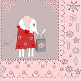 Piękny tło z słoniem w sukni Fotografia Royalty Free