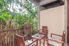 Piękny tarasu ogródu willi hotel Zdjęcie Stock