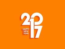 Piękny teksta projekt szczęśliwy nowy rok 2017 Fotografia Royalty Free