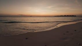 PiÄ™kny timelapse zmierzch w Maldives zdjęcie wideo